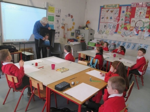 Local Artists Visit Scoil Bhríde