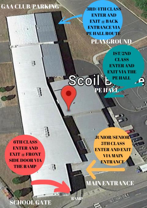 Map – Entrances / Exits